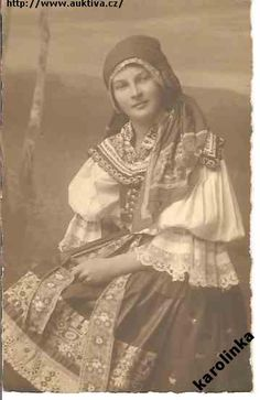 1920 Folk Costume, Vintage Pictures, World Cultures, Fashion History, Ancestry, Traditional Outfits, Vintage Art, Czech Republic, Family History