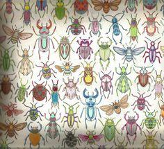 Coloured Bugs From Johanna Basford Secret Garden Colouring Book