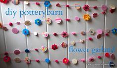 Copycat Pottery Barn Flower Garland Tutorial