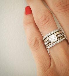 Citrine Sapphire Ring 18K white gold filled Wedding Valentine/'s Gift R2042