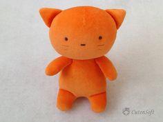 Adorable. Stuffed Cat  Stuffed Animals Plush toy organic toy by CutenSoft, $30.00