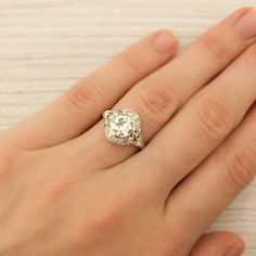 1.07 Carat Antique Diamond Engagement Ring | Vintage & Antique Engagement Rings | Erstwhile Jewelry Co NY