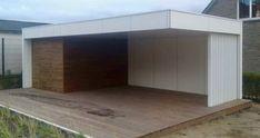 outsit poolhouse  modern poolhouse Garage Doors, Patio, Outdoor Decor, Home Decor, Lawn And Garden, House, Ideas, Decoration Home, Room Decor