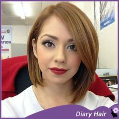 Find More Wigs Information about Short  hair bob wigs human Brazilian short straight  virgin nature hair #1b & 1b/33 brown short bob wigs african american,High Quality wig party,China wig sasuke Suppliers, Cheap wig cover from GuangZhou Diary Hair Products Co., Ltd. on Aliexpress.com