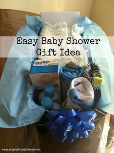 Easy Baby Shower Gift Idea #baby #babyshower #giftidea