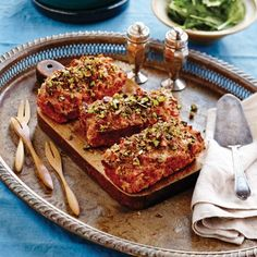 Mini Bacon, Pork and Pistachio Meatloaves