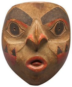 Shaman's mask, Tlingit. Wood, pigment, feathers. Donated by Mrs. E. H. Harriman in 1912. Courtesy of the Division of Anthropology, American Museum of Natural History, 16.1/997.
