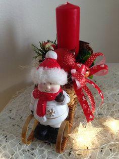 Vianočný svietnik sánky dievcatko / anad333 - SAShE.sk - Handmade Dekorácie