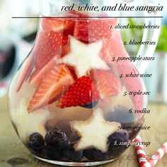 July 4th Sangria: the first drink I will make for my girls when I finally have my social life back on June 29th!