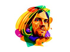 Psychedelic Cobain by Ilya Shapko #Design Popular #Dribbble #shots