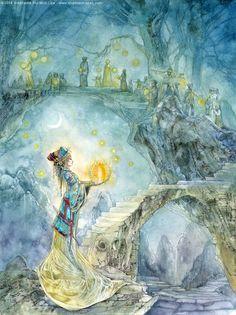 Favorite watercolor artist ever. Festival Night by puimun.deviantart.com on @deviantART