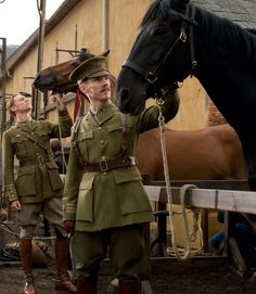 Tom Hiddleston & Benedict Cumberbatch -- War Horse You have no idea how excited I was to see them in this movie together. -> but I was shocked when cap Nicholas died and major was captured after the appeared for like Tom Hiddleston Benedict Cumberbatch, Tom Hiddleston Loki, British American, British Men, Movies Showing, Movies And Tv Shows, Chef D Oeuvre, Thomas William Hiddleston, Period Dramas