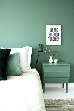 Bedroom colors for small rooms the best paint colors for small rooms small rooms room and bedrooms Green Rooms, Bedroom Green, Home Bedroom, Green Walls, Bedroom Ideas, Master Bedroom, Summer Bedroom, Trendy Bedroom, Design Bedroom