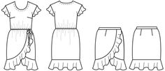 Adrift Dress/Skirt - Papercut Patterns   (Could use skirt with different bodice for simpler dress.)