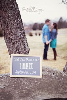 "Pregnancy Announcement ""And then there were Three"" 