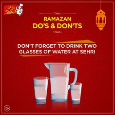 Keep yourself hydrated to avoid headaches and thirst! #Ramadan