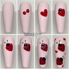 Nail Art Designs Videos, Gel Nail Designs, Nail Drawing, Animal Nail Art, Valentine Nail Art, Cute Nail Art, Nail Art Hacks, Perfect Nails, Perfect Makeup