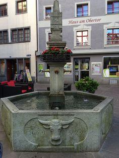 fontein in de altstadt van Chur #Graübunden