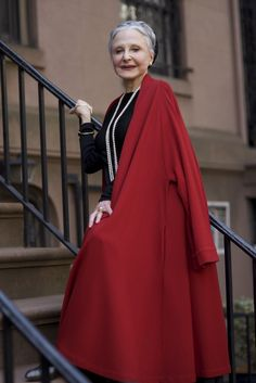 """Joyce Carpati, Joyce,believes that, """" To age is a privilege"""" and that """"Elegance is of the utmost importance"""" for an older woman"""