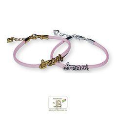 Armband Dream faux suede, roze €4,50