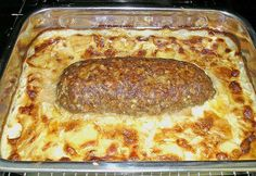 Hackbraten mit Kartoffeln in Sahne Hackbraten mit Kartoffeln in Sahne,Rezepte Meatloaf with potatoes in cream 26 Cuban Recipes, Greek Recipes, Meat Recipes, German Recipes, Benefits Of Potatoes, Ground Beef Enchiladas, Famous Drinks, Meat Loaf, Ideas