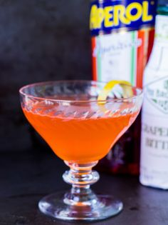 The Common Dawn: gin, Aperol, Lillet Blanc, grapefruit juice, lemon juice, grapefruit bitters, Angostura, lemon twist | Vijay Nathan for The Boys Club