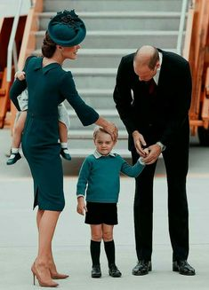 Duchess Kate & husband Prince William & their young son Prince George