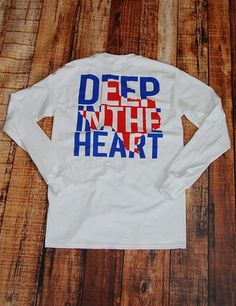 Deep In The Heart Left Chest - WHITE at Barefoot Campus