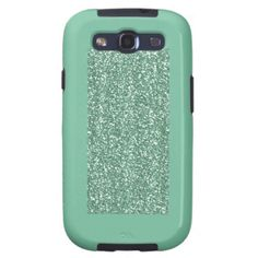 Mint Green with faux glitter Samsung Galaxy S3 Covers
