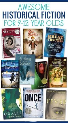 10 Historical Fiction Books for Tweens Ten Awesome historical fiction books for tweens Books For Tweens, Books For Boys, Childrens Books, Tween Books, Books For Children, Teen Girl Books, Book Suggestions, Book Recommendations, Middle School Books