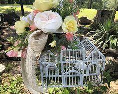 Ethereal Photography, Wedding Table Centres, Wedding Wreaths, Silk Flower Arrangements, Bird Cage, Wedding Color Schemes, Rustic Style, Silk Flowers, Color Splash