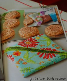 Pat Sloan: Easy Kitchen Projects Book Review I LOVE when my friends select my fabric to use in the books they write, it's SO darn exciting ... http://blog.patsloan.com/2014/08/pat-sloan-easy-