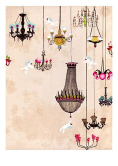 Chandeliers by Delphine Lebourgeois