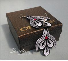 Quilled paper earrings by Sanda Dragotă /4,5cm / 4,0cm/