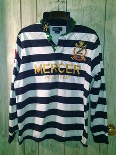 POLO RALPH LAUREN  2 Mercer POLO TEAM LOGO Men s XL Rugby Quilt Yoke LS  Shirt. Chemises Casuelles Pour HommesLogo ... 3f9bede1b32