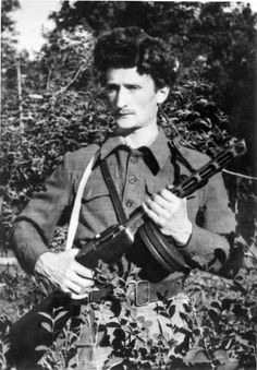 Alexander Bogen, an artist and partisan unit commander in the forests around Vilna, Lithuania. He smuggled Jews out of the ghetto into the forests, trained them how to fight and led them in attacks against the Germans.