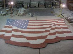 Finished memorial American Flag, this will be Paverart's first 3 dimensional project once it is installed on May 26th. Finished install picture to follow!