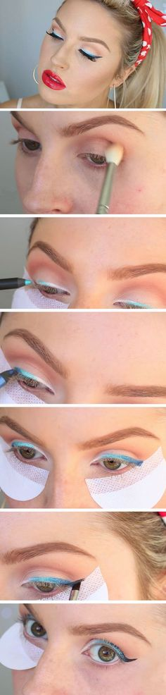 Modern Pin Up   20 Patriotic Eye Makeup Ideas Step by Step that are totally wearable!