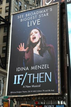 Want to see this!! Tom Kitt & Brian Yorkey's original, If/Then, with broadway legend, Idina Menzel.