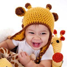 Giraffe Hat by Just Be Happy Crochet  #giraffe #crochet #hat #kids #toddlers
