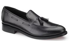 Our Prestige Tasselled black loafer has been made by hand using Goodyear Welted construction. This range of shoes and boots are produced using the finest Italian leather uppers which offer an unbeatable combination of comfort and durability.  The Prestige collection represents outstanding quality at an exceptional price. Provided with a shoe horn.  Available in sizes: 5, 6, 6½, 7, 7½, 8, 8½, 9, 9½, 10, 10½, 11, 12, 13, 14.  £59.95