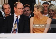 Prince Albert II of Monaco and Princess Charlene of Monaco attend the Amber Fashion Show and Charity Auction at Le Meridien Beach Plaza Hotel on May 25, 2012 in Monaco, Monaco.