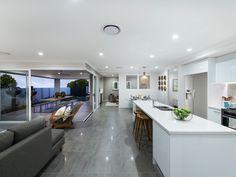 Open Plan Kitchen, Dining and Living. Ausbuild Denham Display Home. See website for display locations. www.ausbuild.com.au