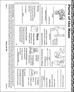 Parts of Catholic Mass Worksheet