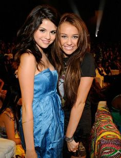 Selena and Miley...they so cute