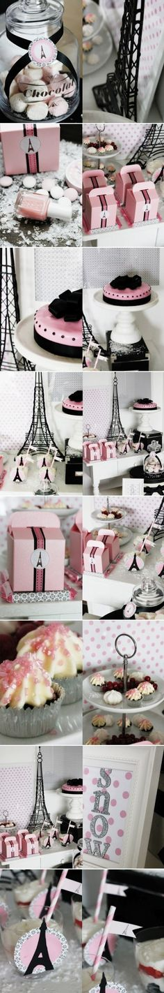 Parisian themed bridal shower :) by malinda