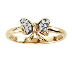 Pre-owned Diamond Butterfly Ring