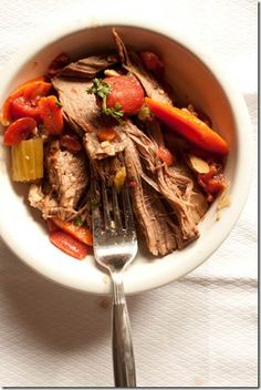 Slow Cooker New England Pot Roast from Canyoustayfordinner.com -- I've never had parsnips before!