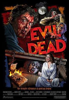 Fright Rags revealed their latest design to celebrate the upcoming anniversary of The Evil Dead. The Evil Dead collection includes six new T-shirts, a base. Arte Horror, Horror Art, Horror Pictures, Scary Movies, Great Movies, 1980's Movies, Excellent Movies, Epic Movie, Cult Movies