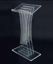 Clear Acrylic Podium - $150